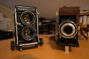 Unsere Retro Kameras 6x6 oder 6x9 Film